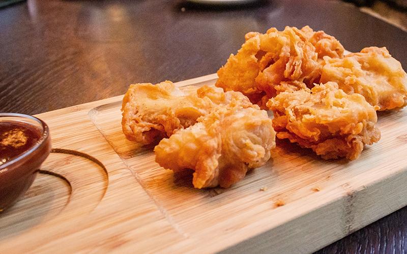 Koreansk friterad kyckling